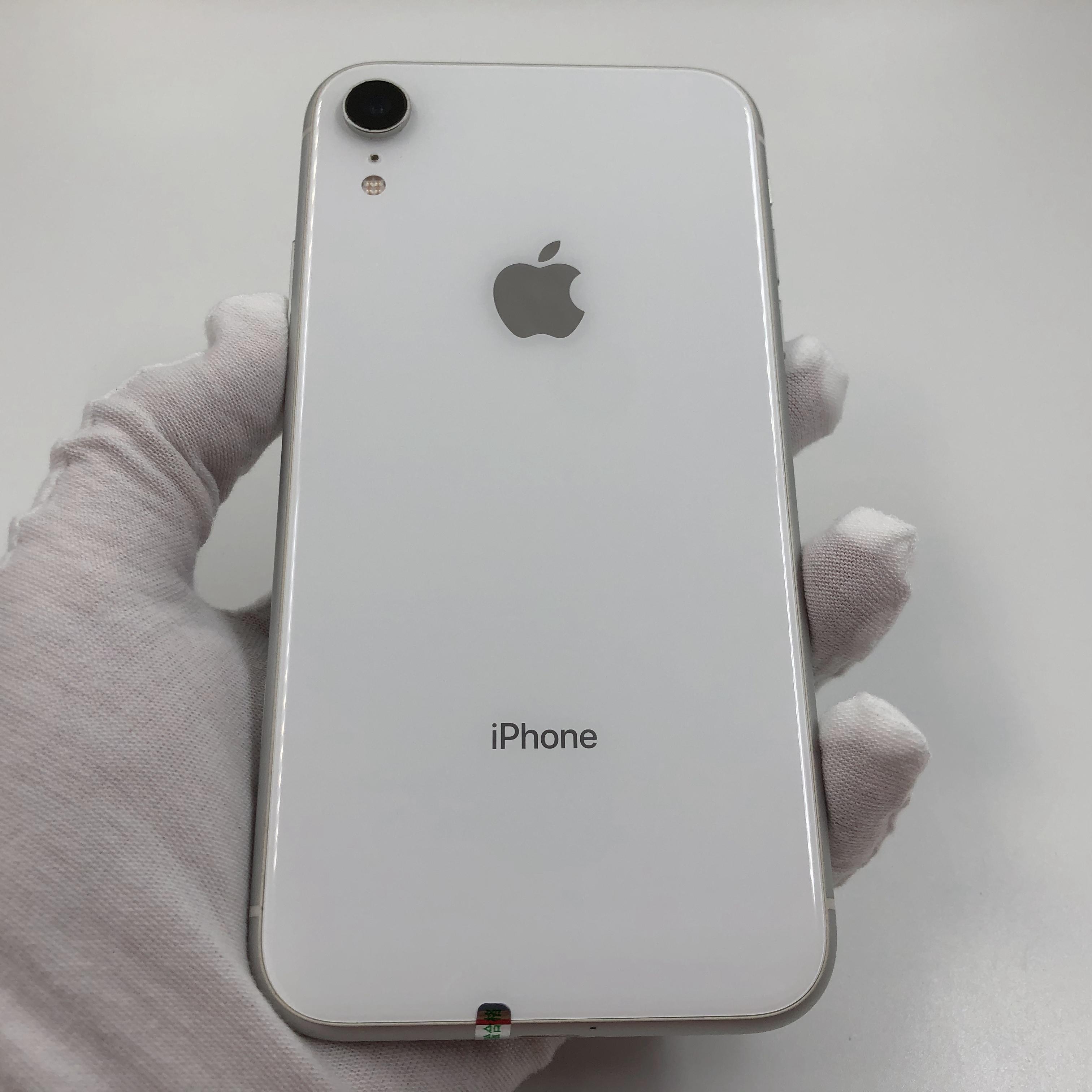 苹果【iPhone XR】4G全网通 白色 128G 国行 95新 真机实拍