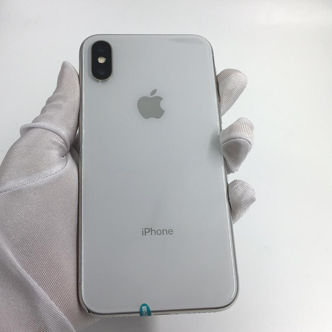 苹果【iPhone X】4G全网通 银色 64G 国行 95新 64G真机实拍