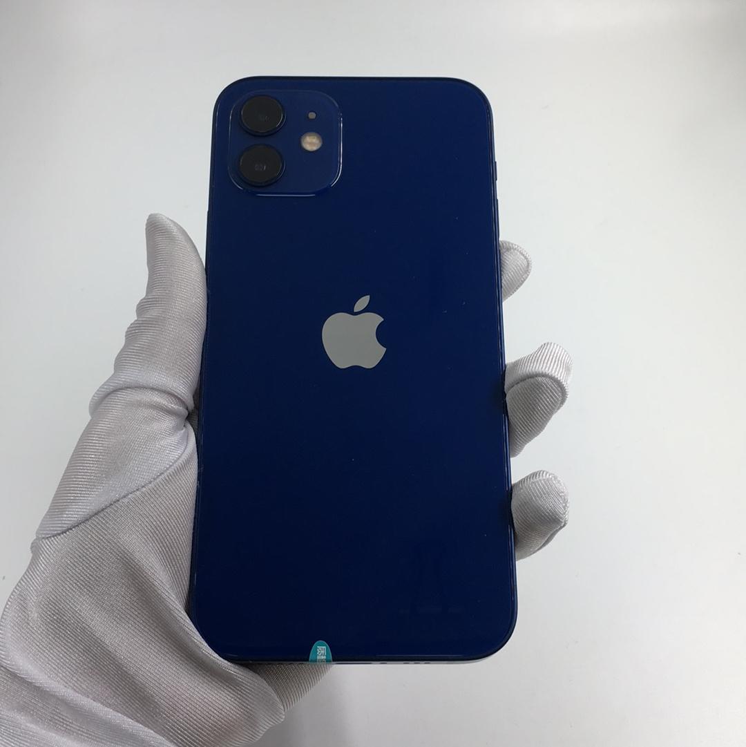 苹果【iPhone 12】5G全网通 蓝色 128G 国行 8成新 128G真机实拍
