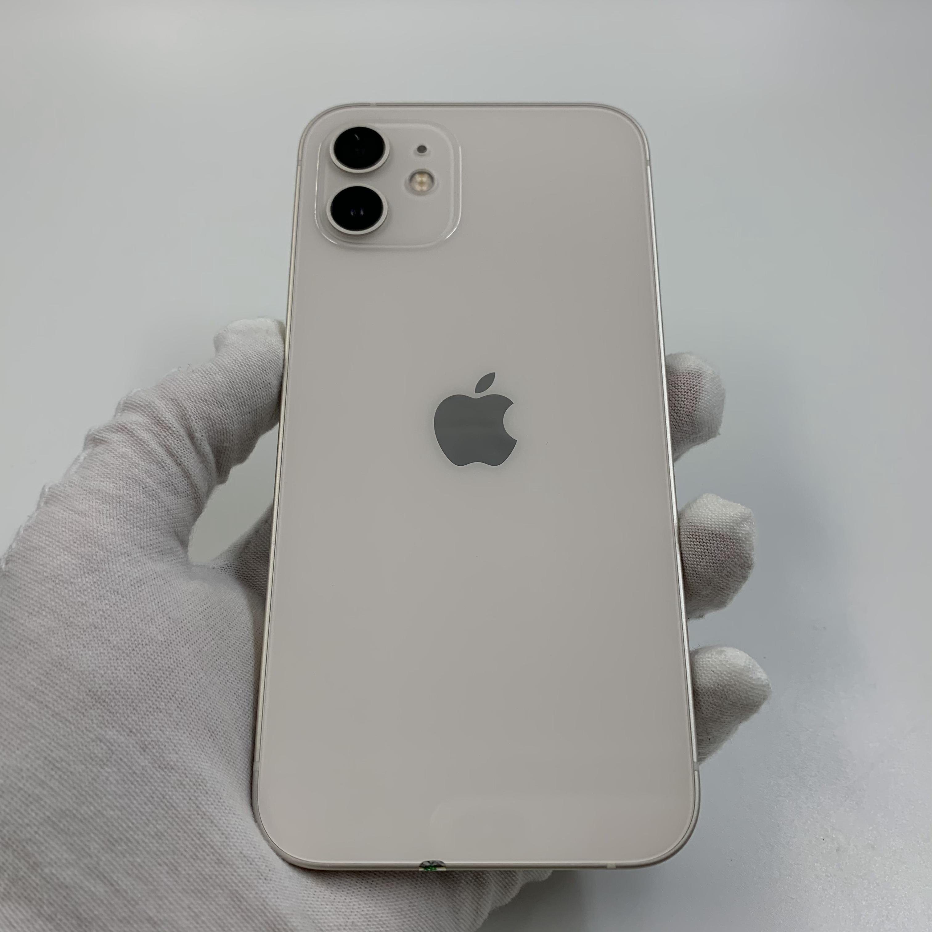 苹果【iPhone 12】5G全网通 白色 128G 国行 95新 真机实拍官保2021-11-01