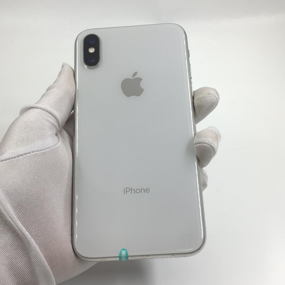 苹果【iPhone X】4G全网通 银色 64G 港澳台 95新 64G真机实拍