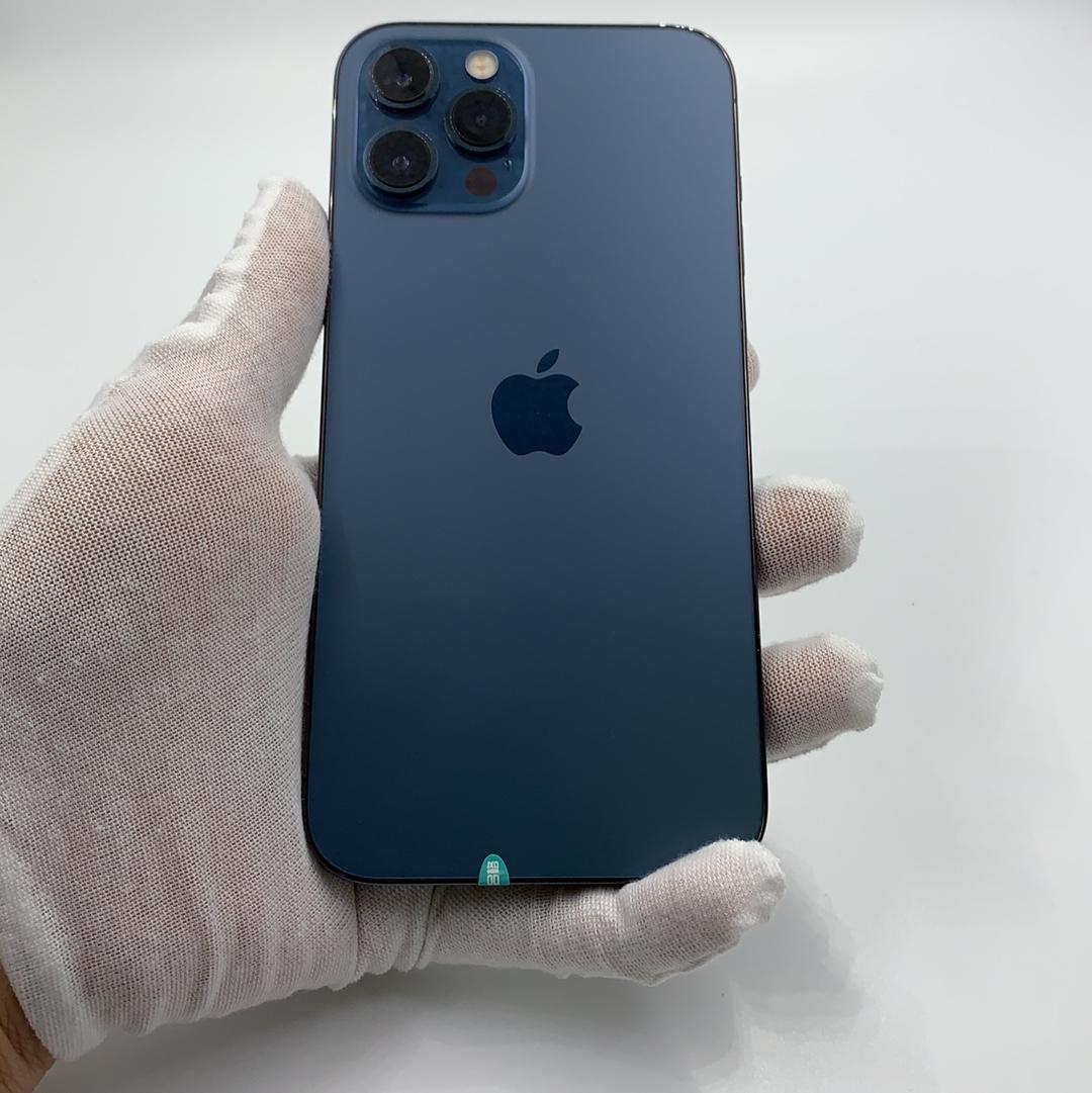 苹果【iPhone 12 Pro Max】5G全网通 海蓝色 128G 国行 8成新
