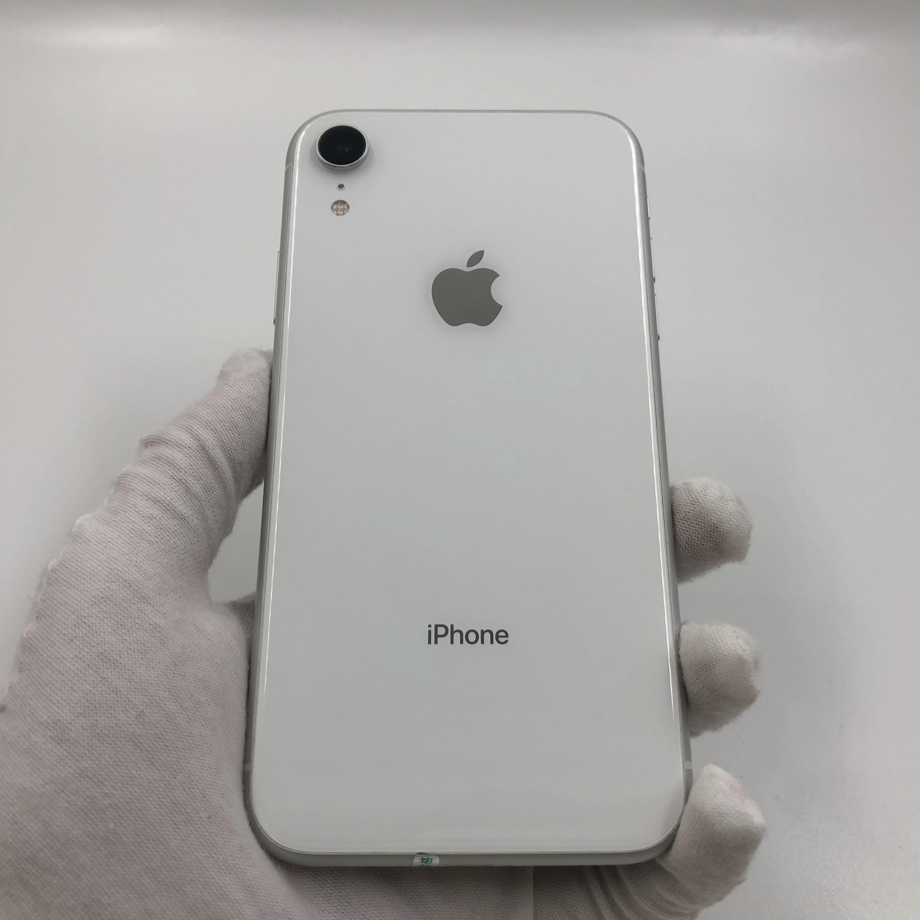 苹果【iPhone XR】4G全网通 白色 64G 国行 8成新 真机实拍
