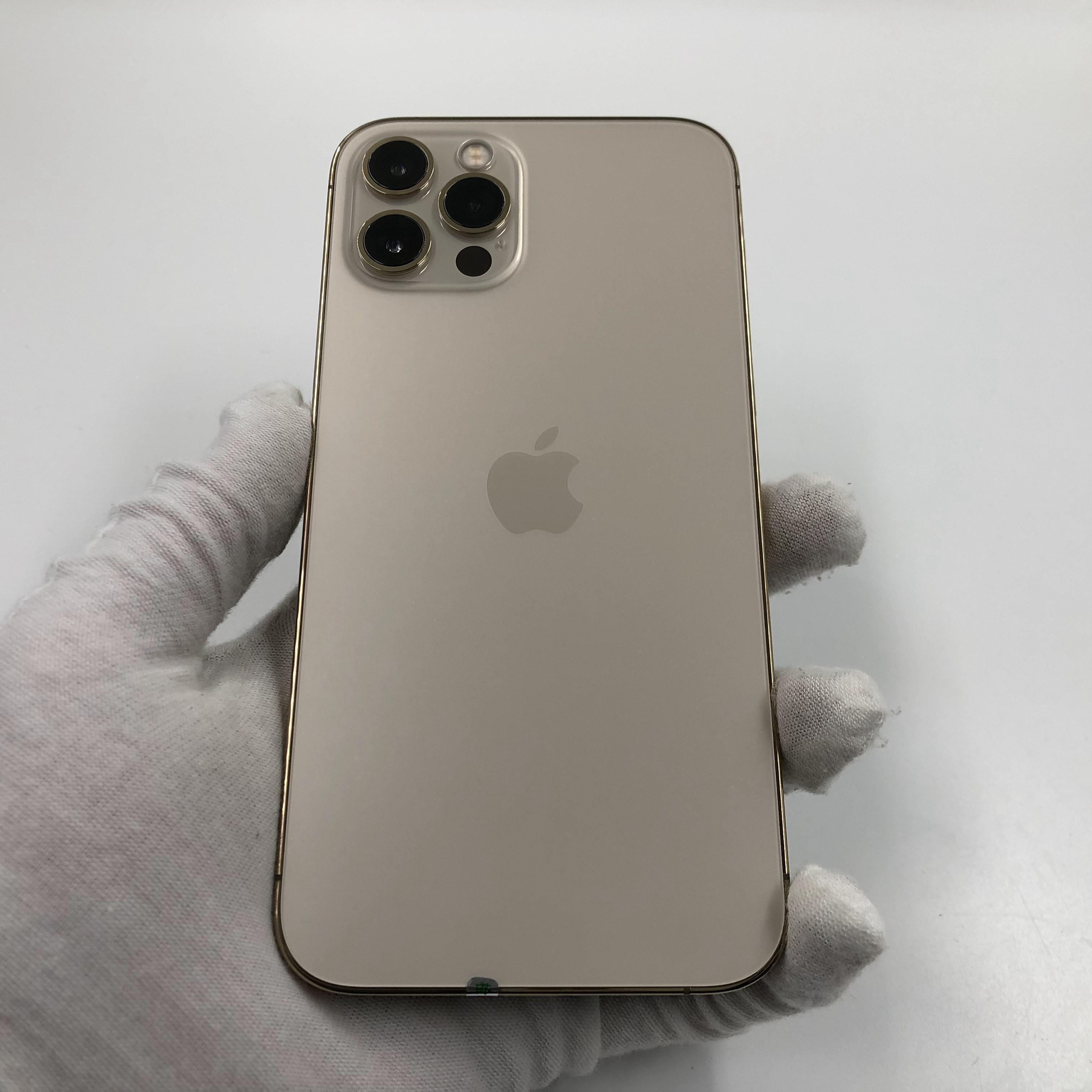 苹果【iPhone 12 Pro】5G全网通 金色 128G 国行 99新 真机实拍官保2022-02-25