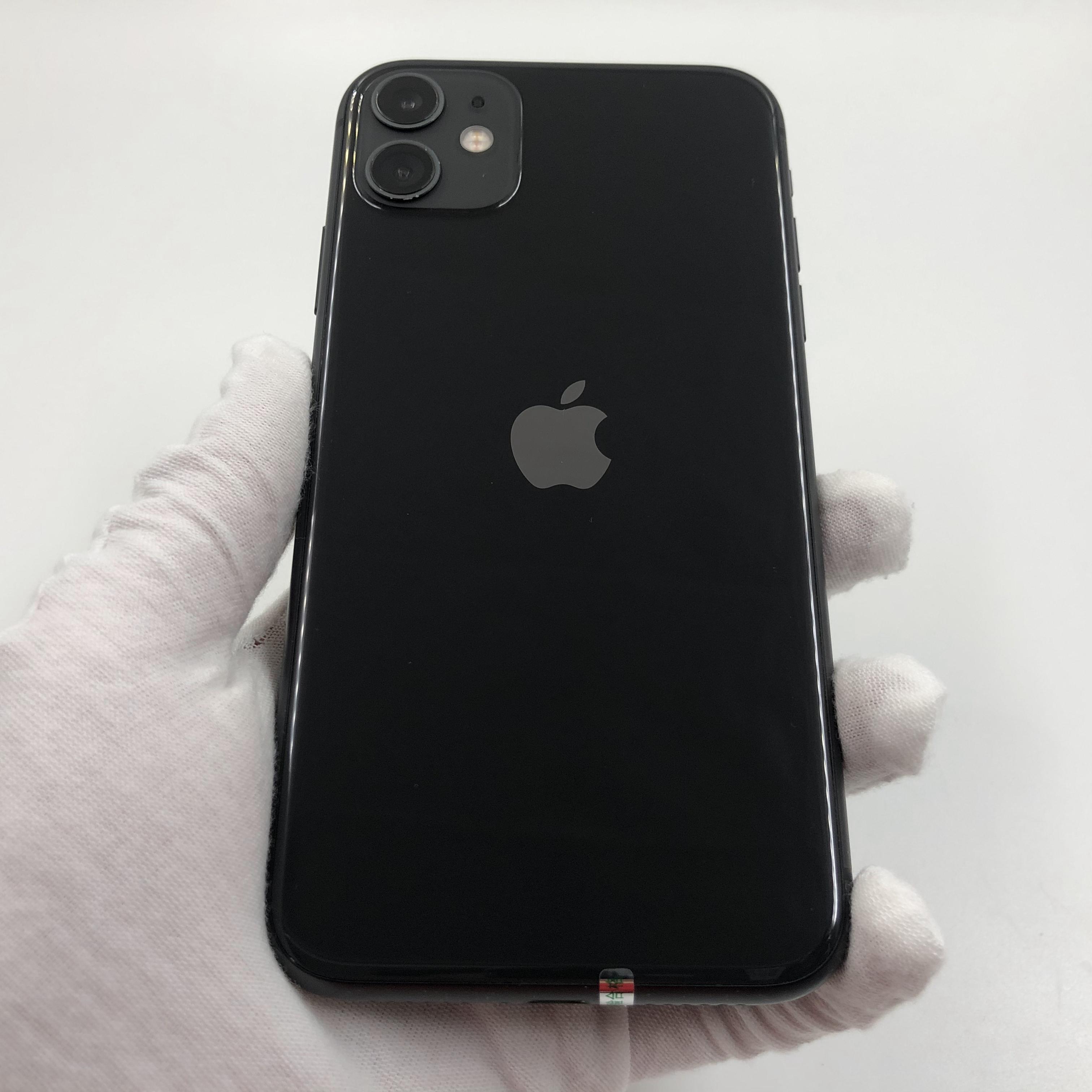 苹果【iPhone 11】4G全网通 黑色 128G 国行 8成新 真机实拍