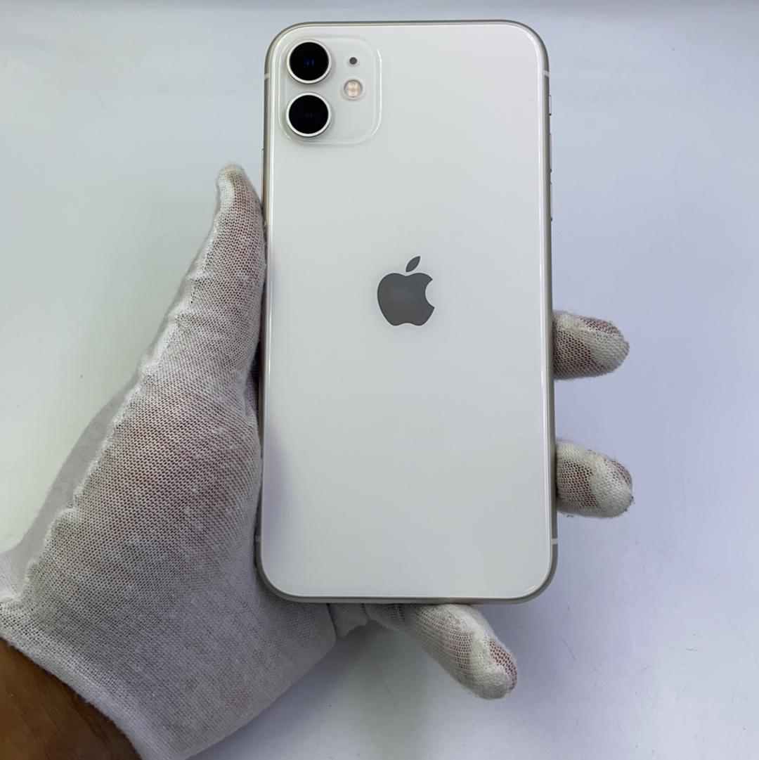 苹果【iPhone 11】4G全网通 白色 256G 国行 8成新