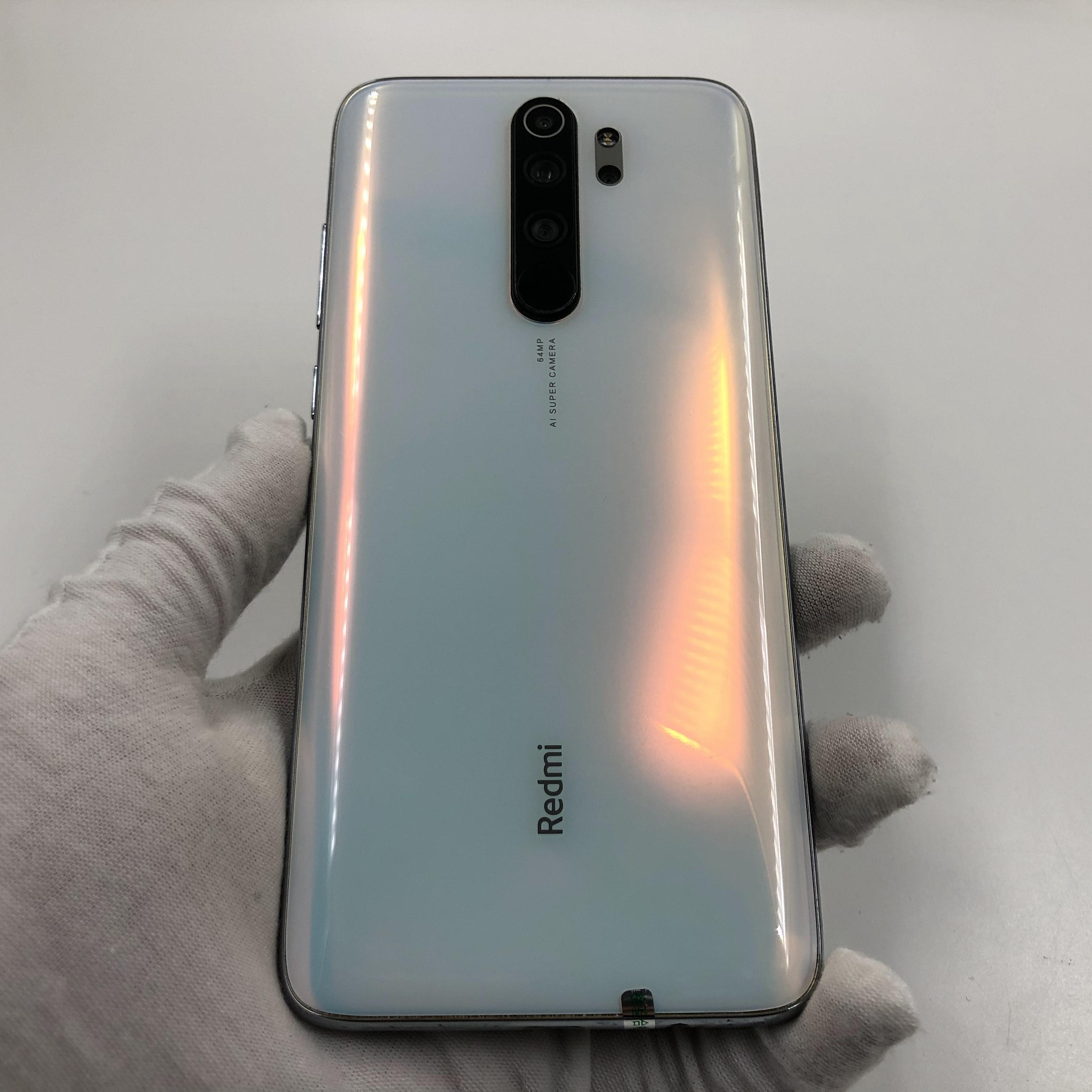 小米【Redmi Note 8 Pro】4G全网通 贝母白 8G/128G 国行 8成新 真机实拍