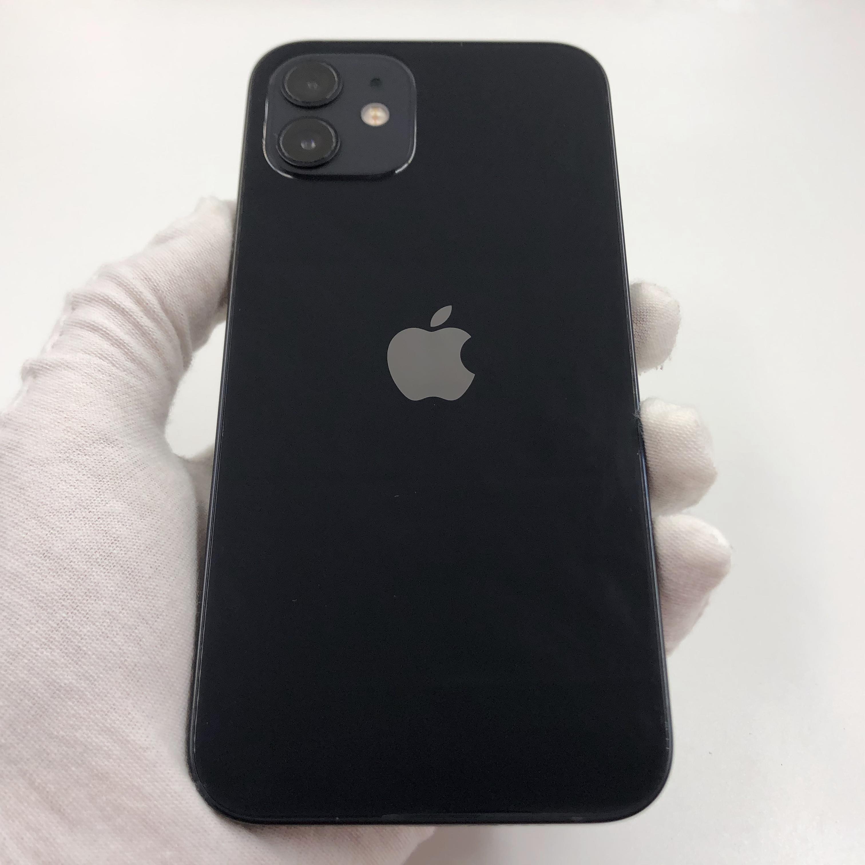 苹果【iPhone 12】5G全网通 黑色 64G 国行 95新 真机实拍官保2021-11-05