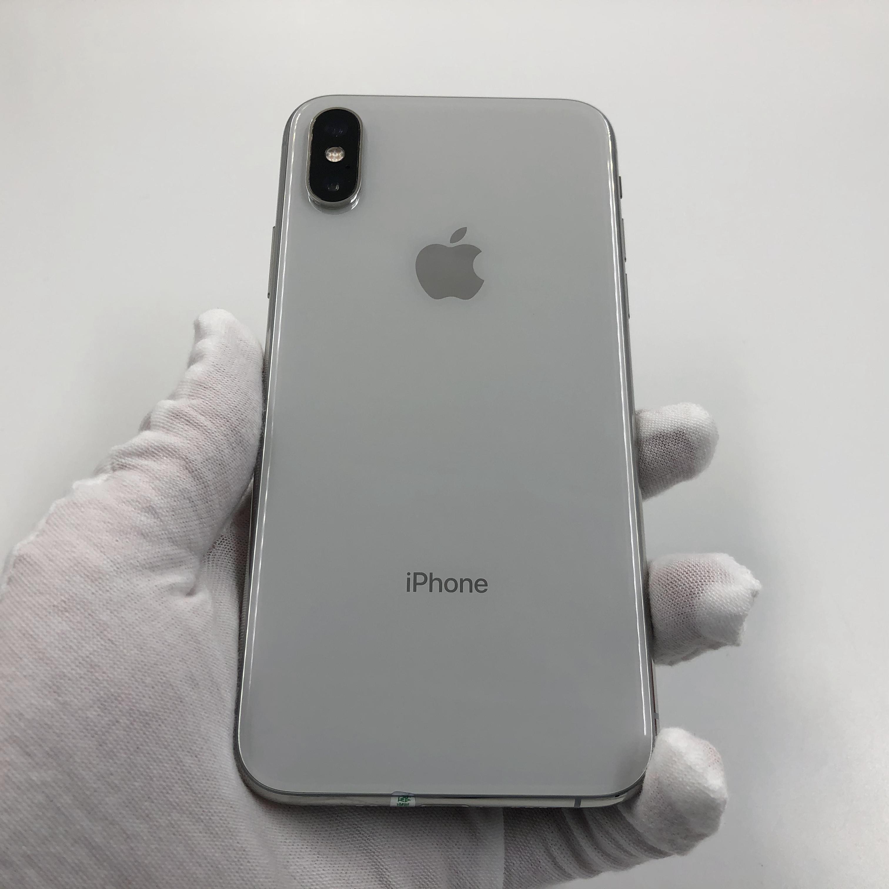 苹果【iPhone Xs】4G全网通 银色 64G 国行 95新 真机实拍