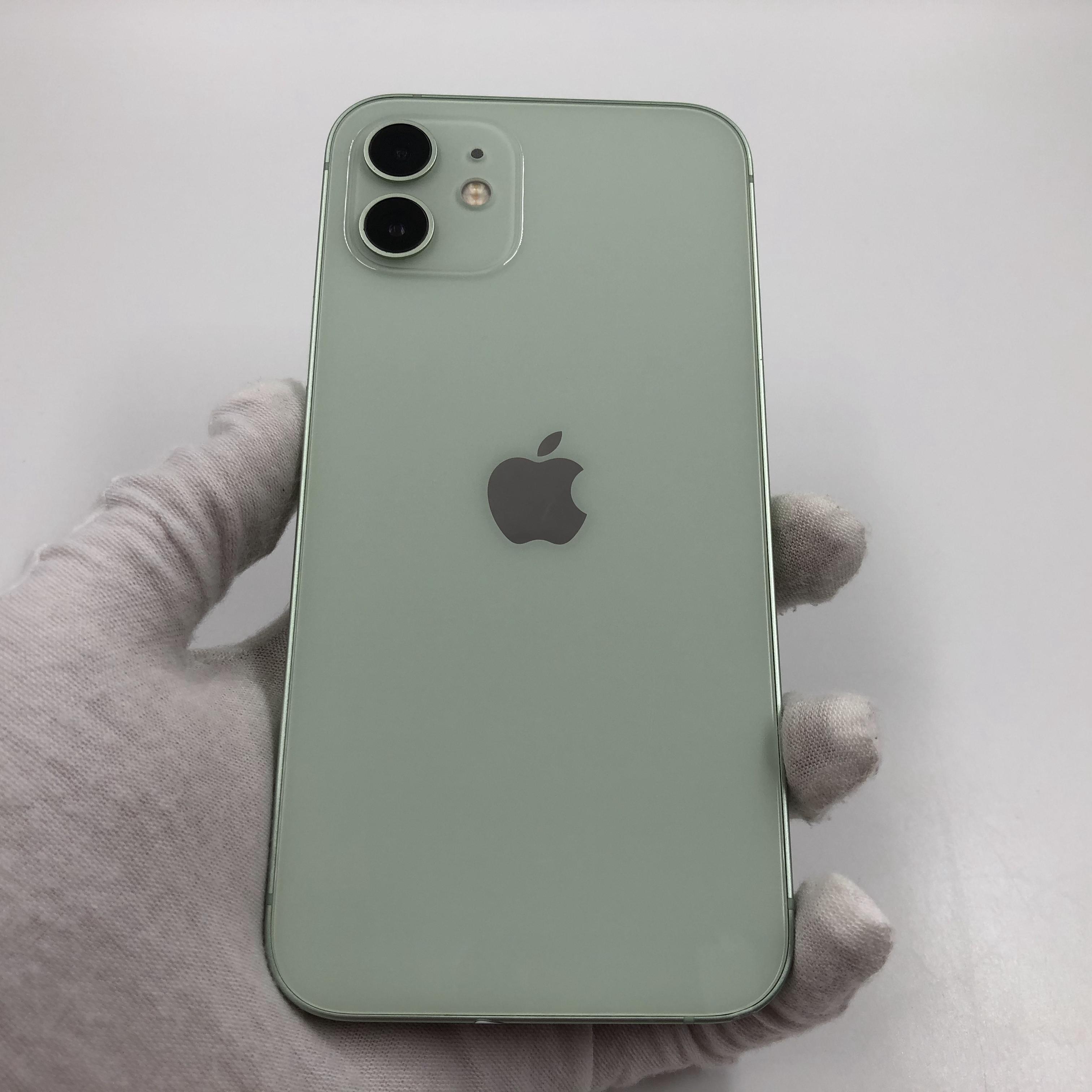 苹果【iPhone 12】5G全网通 绿色 64G 国行 9成新 真机实拍官保2021-12-07