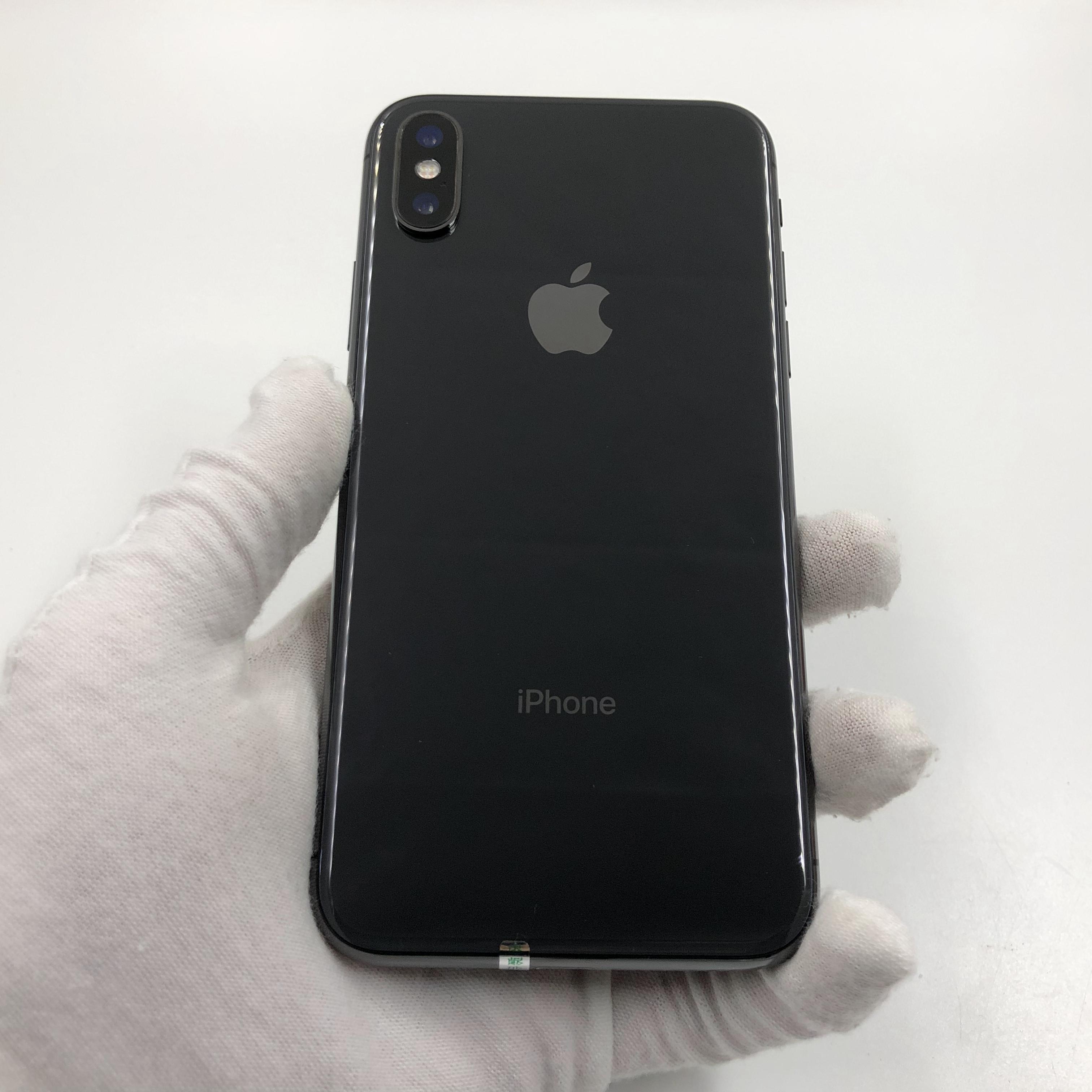 苹果【iPhone X】4G全网通 深空灰 64G 国行 8成新 真机实拍