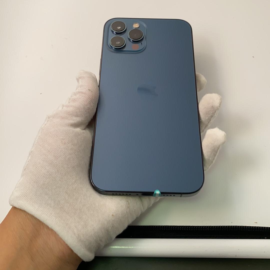 苹果【iPhone 12 Pro Max】5G全网通 海蓝色 128G 国行 9成新
