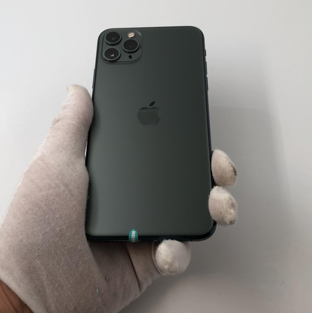 苹果【iPhone 11 Pro Max】4G全网通 暗夜绿色 64G 国行 9成新
