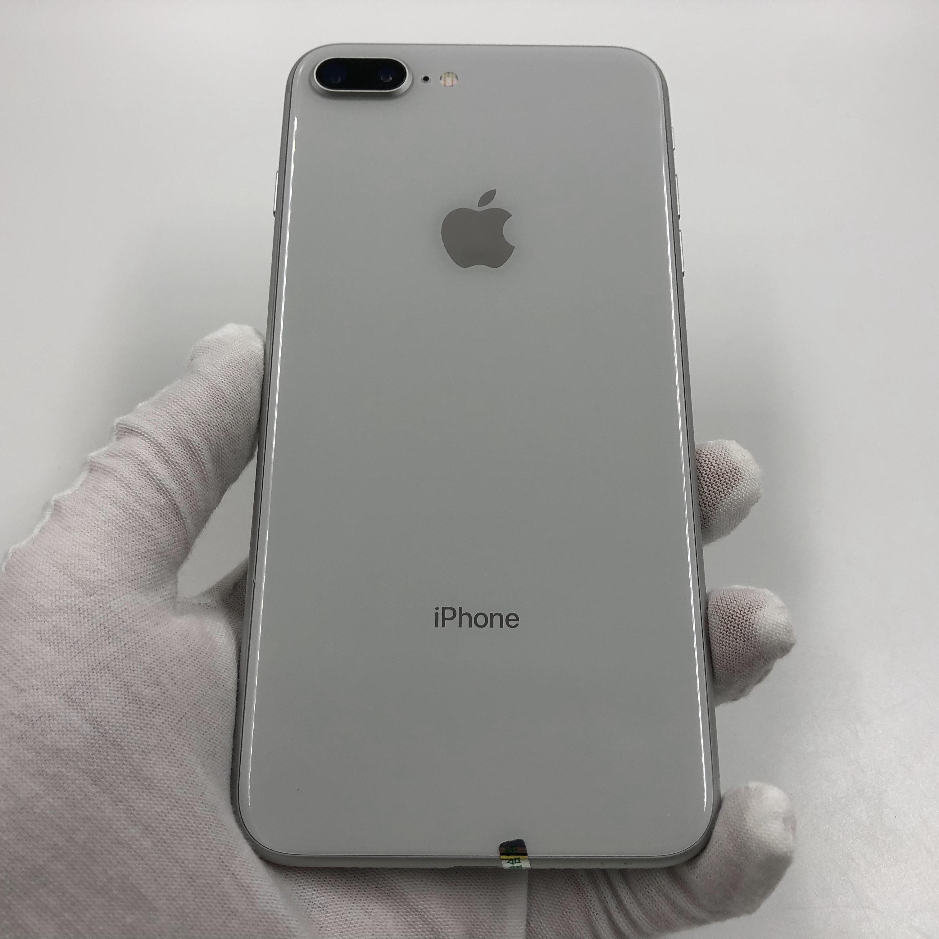 苹果【iPhone 8 Plus】4G全网通 银色 128G 国行 9成新 真机实拍