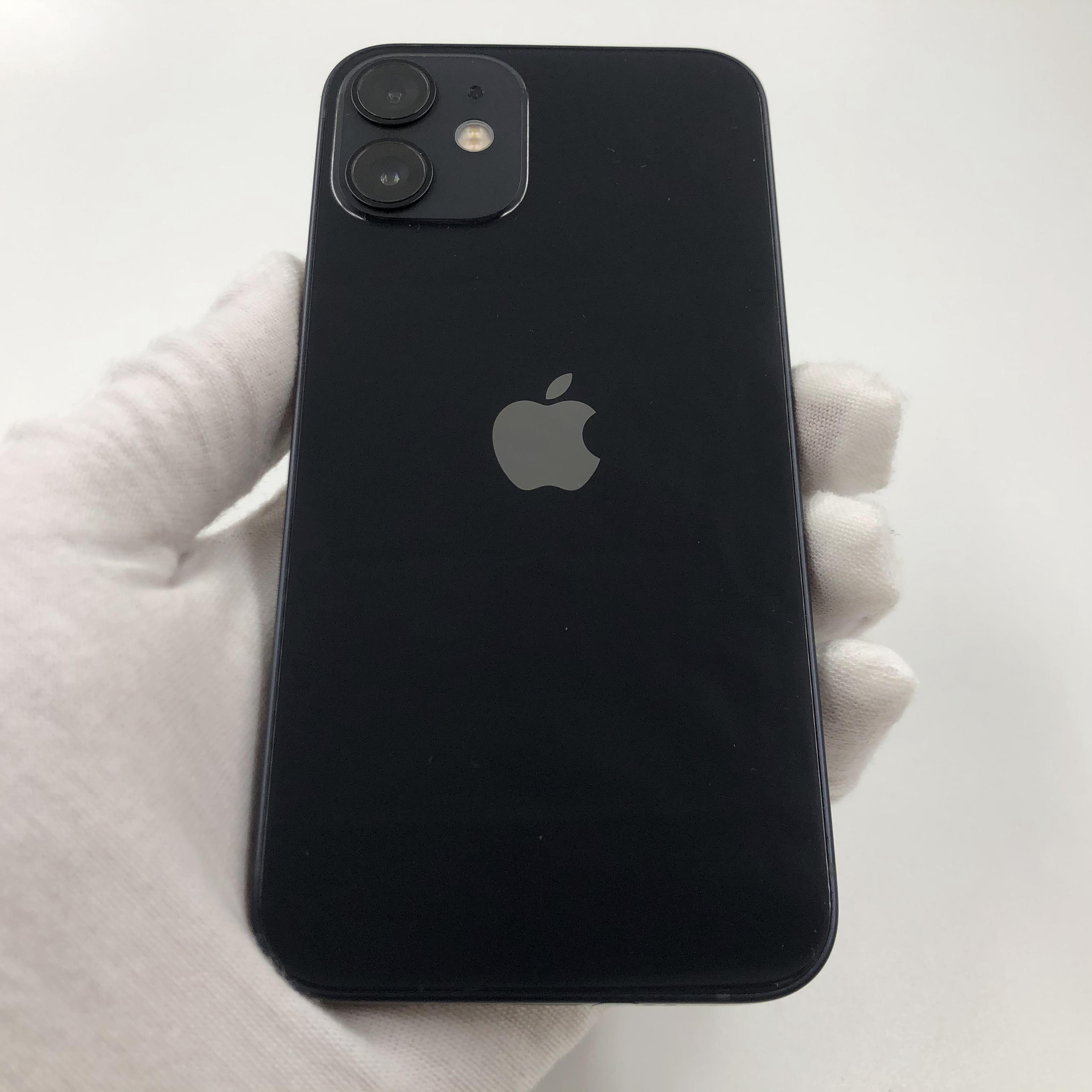 苹果【iPhone 12 mini】5G全网通 黑色 128G 国行 99新 真机实拍官保2021-11-13