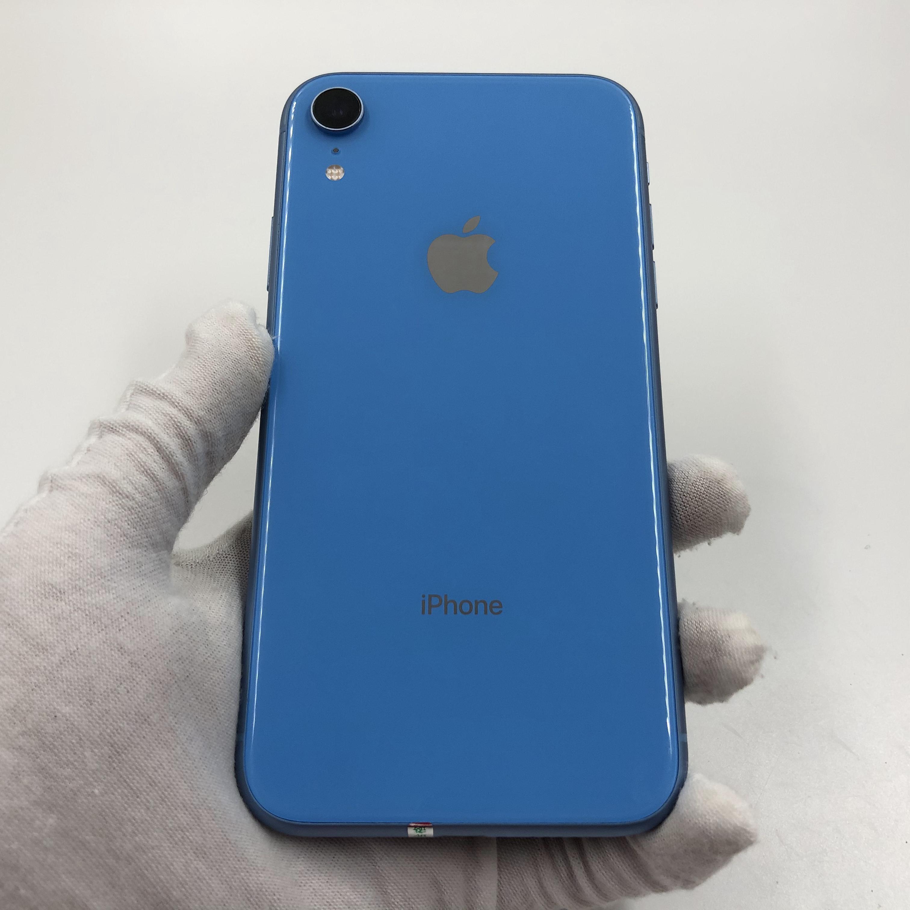 苹果【iPhone XR】4G全网通 蓝色 256G 国际版 8成新 真机实拍