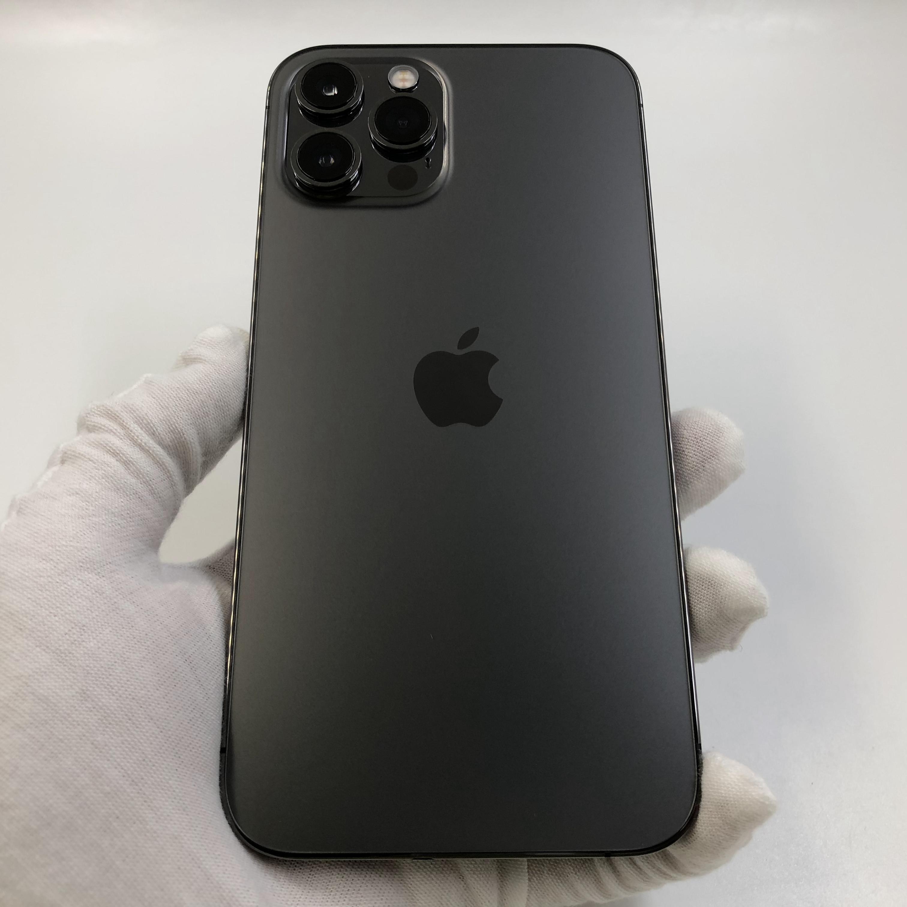 苹果【iPhone 12 Pro Max】5G全网通 石墨色 256G 国行 99新 真机实拍官保2021-11-27