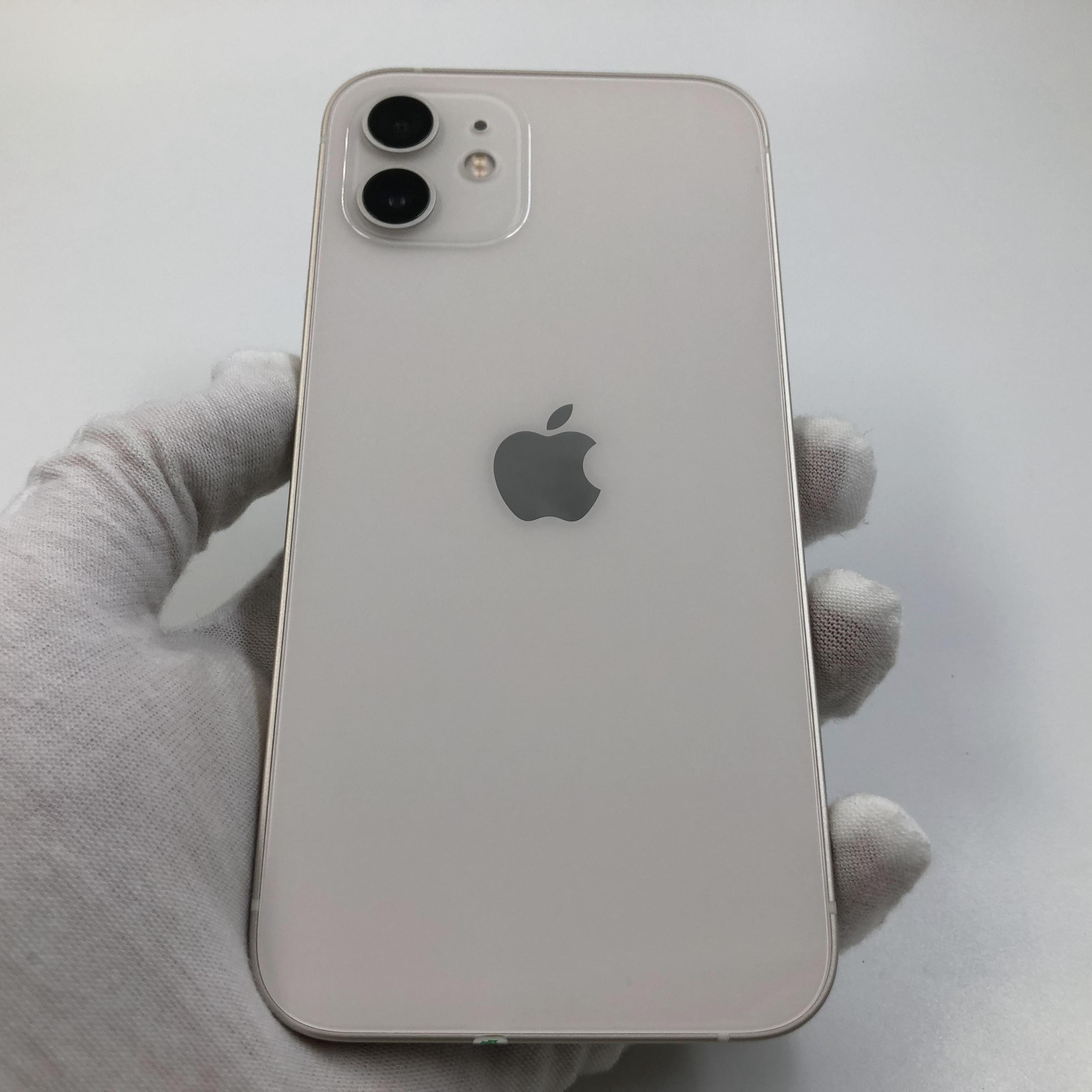 苹果【iPhone 12】5G全网通 白色 128G 国行 99新 真机实拍官保2021-11-16