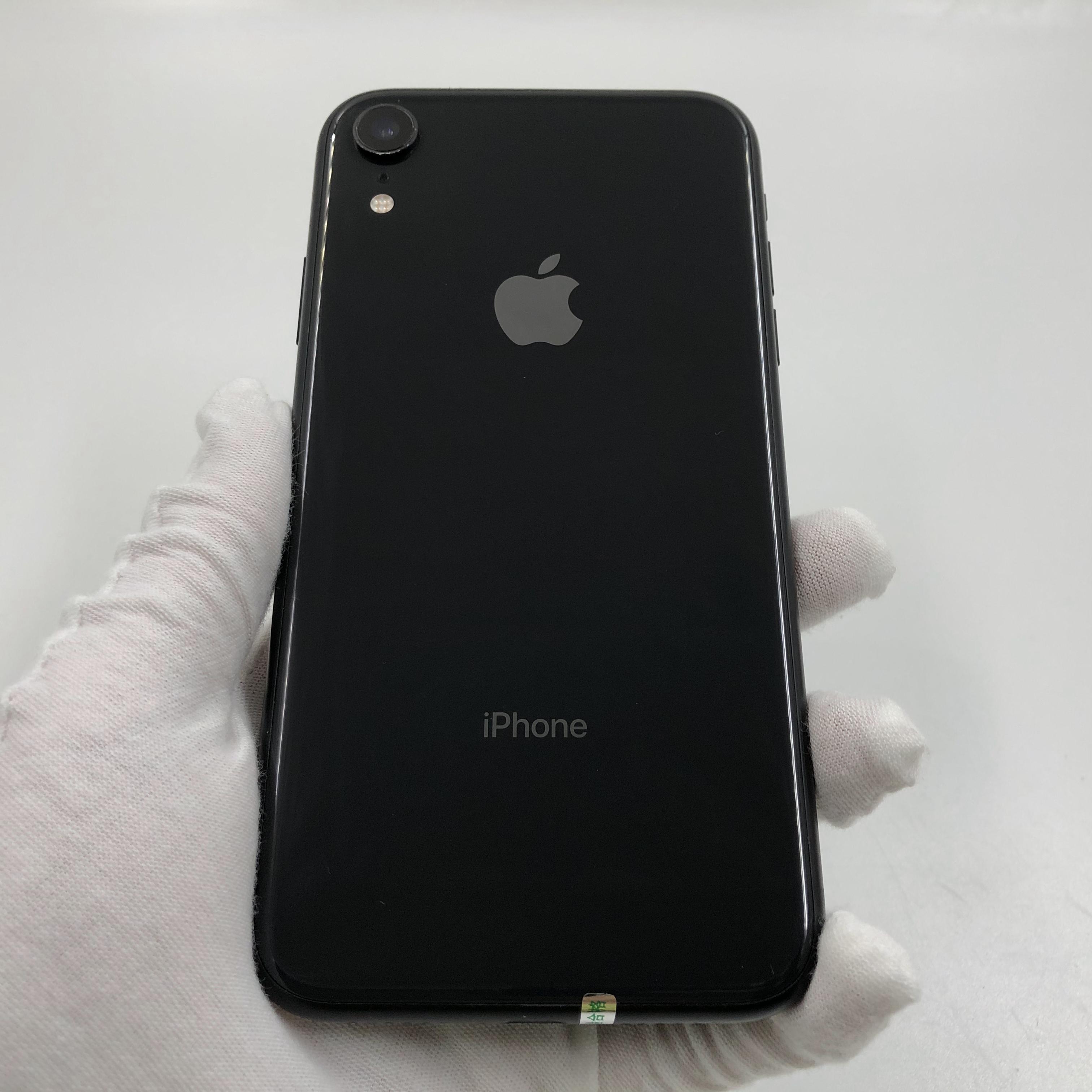 苹果【iPhone XR】4G全网通 黑色 128G 国行 8成新 真机实拍