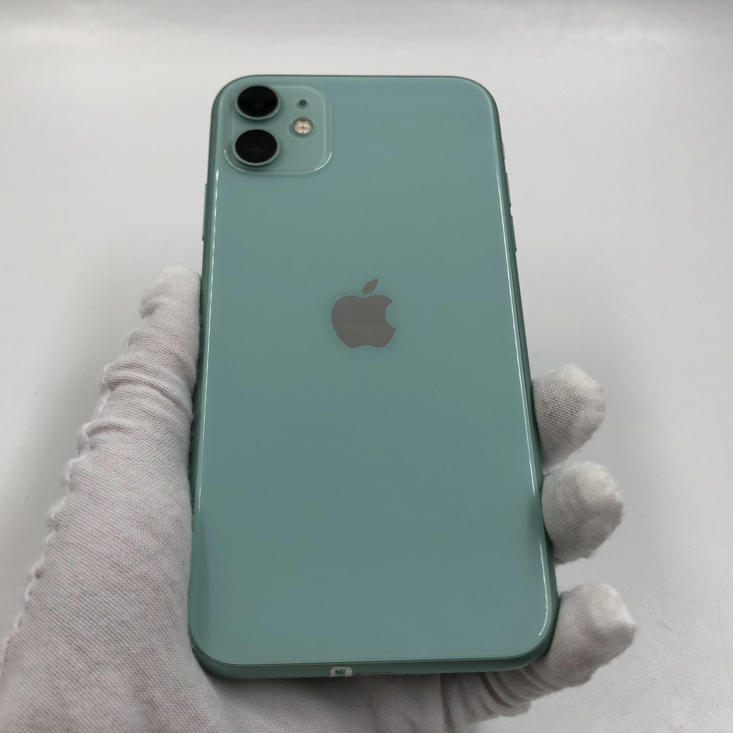 苹果【iPhone 11】4G全网通 绿色 64G 国行 8成新 真机实拍