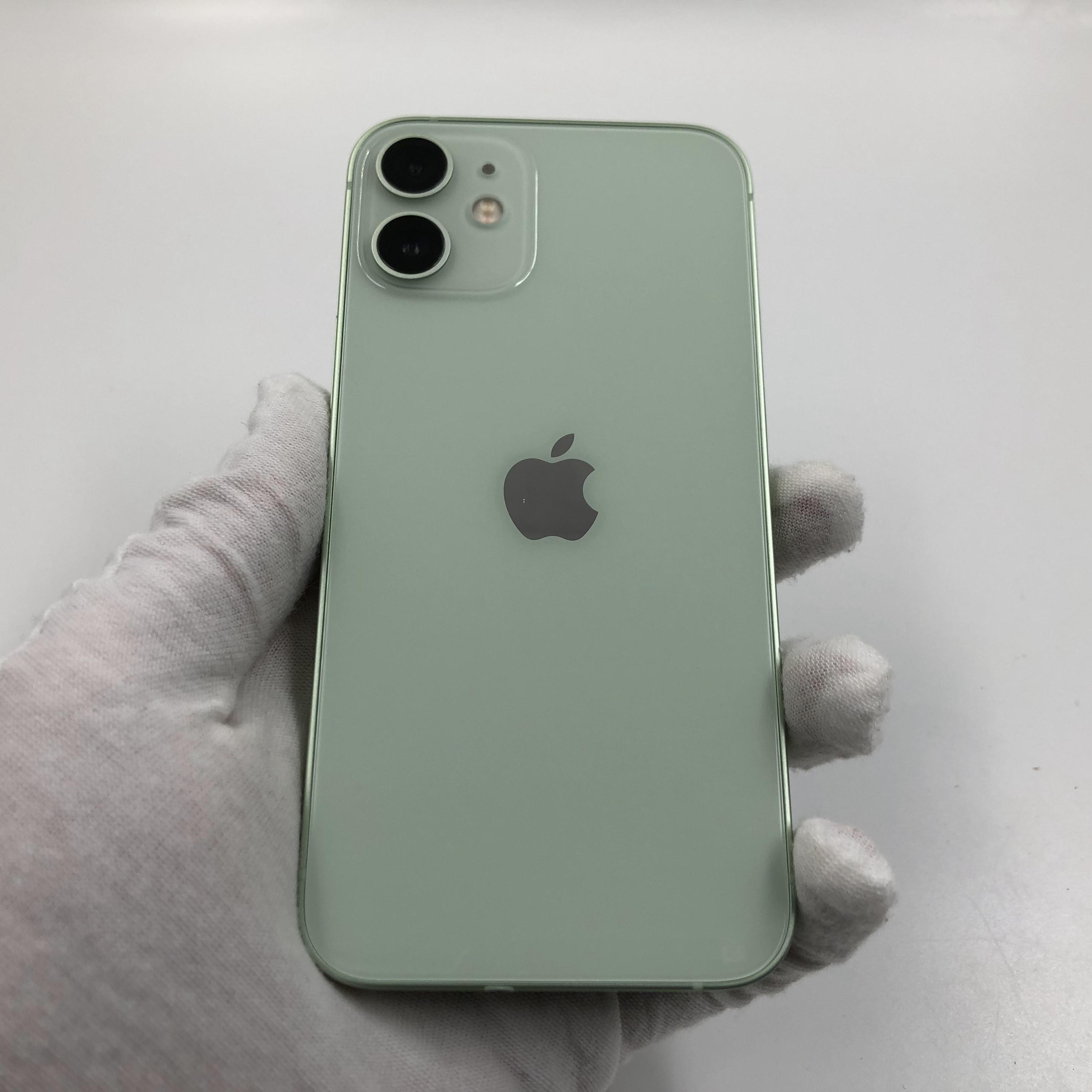 苹果【iPhone 12 mini】5G全网通 绿色 128G 国行 95新 真机实拍官保2022-05-09