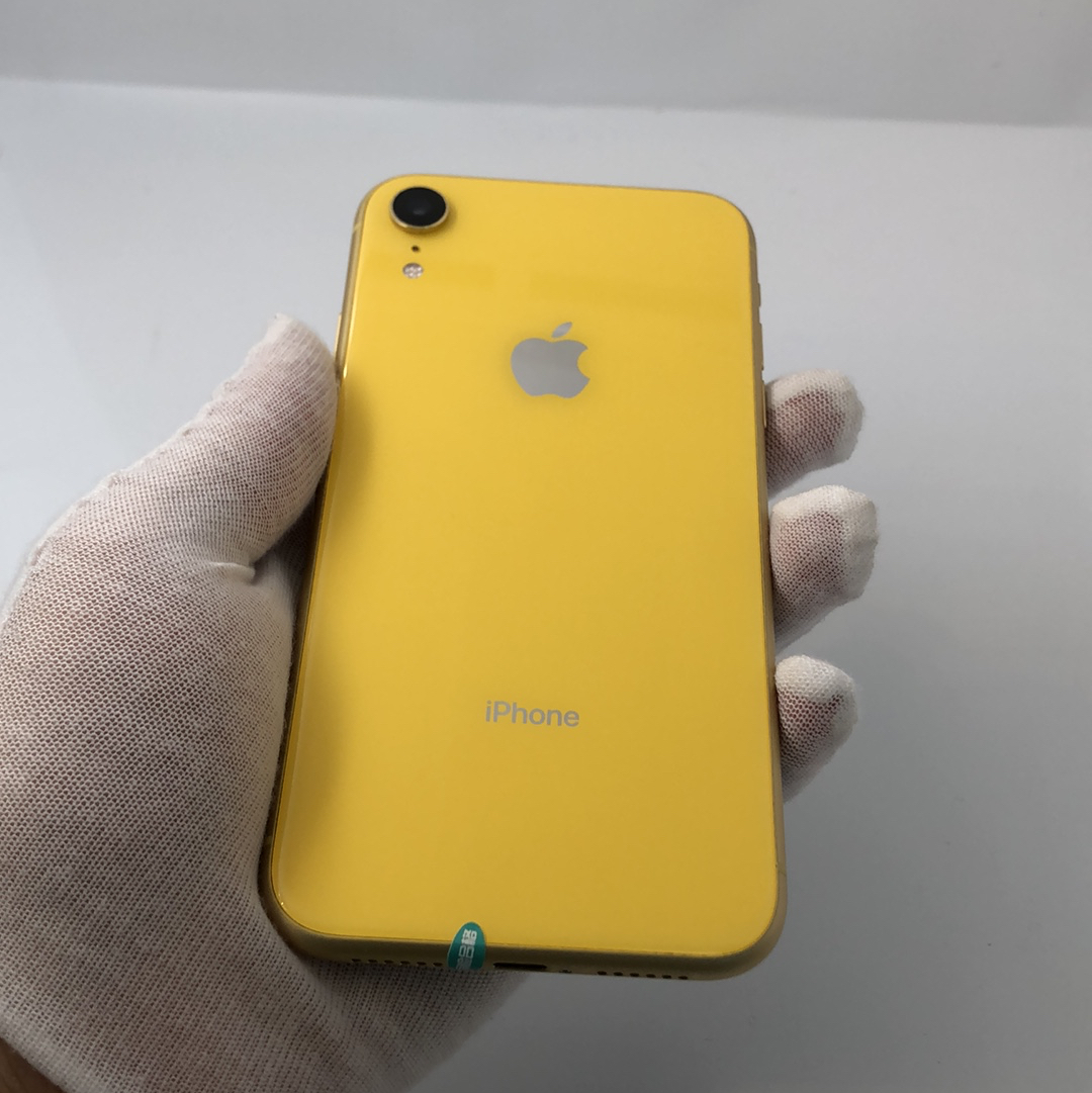 苹果【iPhone XR】4G全网通 黄色 128G 国际版 8成新