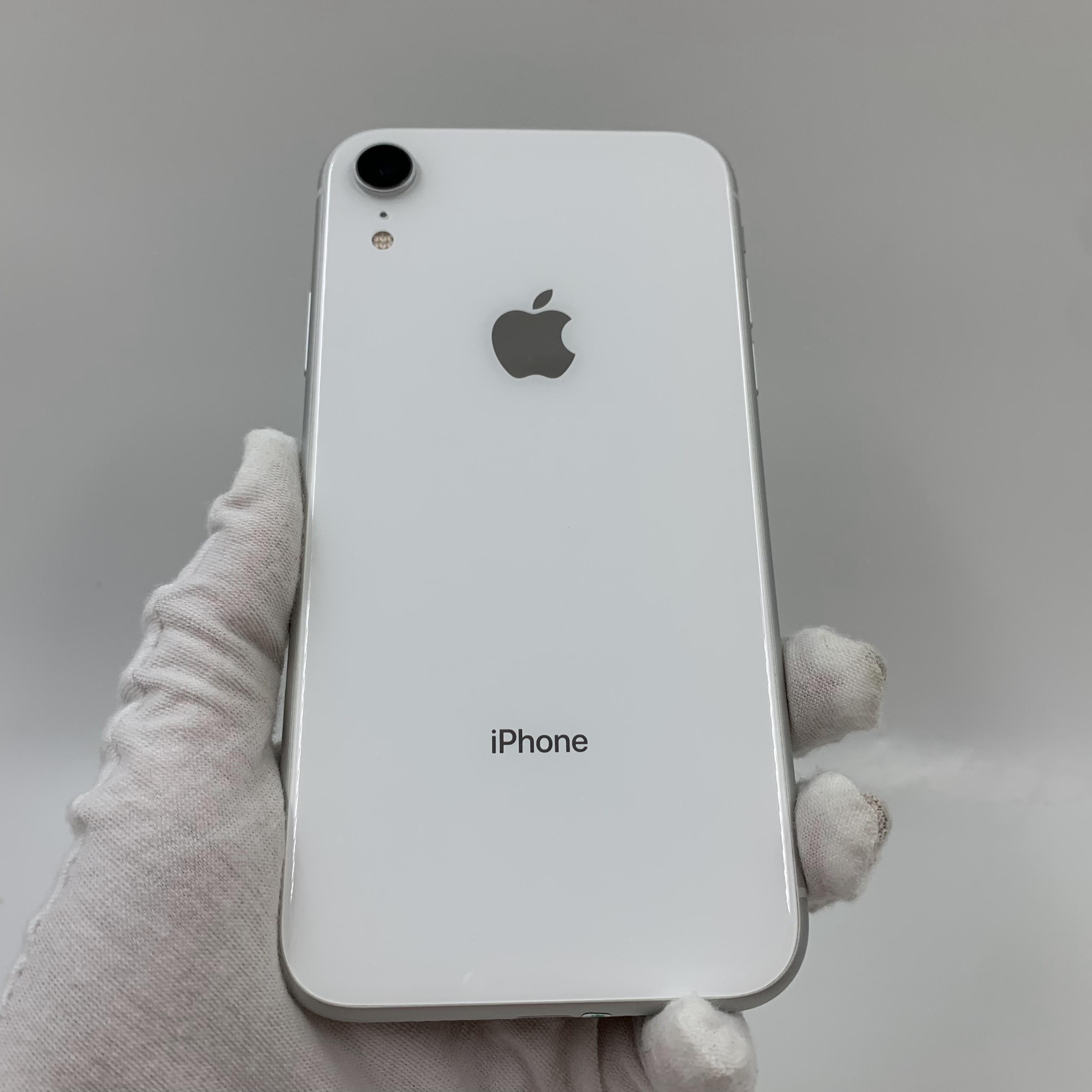 苹果【iPhone XR】4G全网通 白色 64G 国行 95新 真机实拍